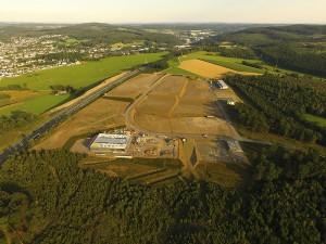 Aktueller Baufortschritt Gewerbepark Hüppcherhammer März 2016